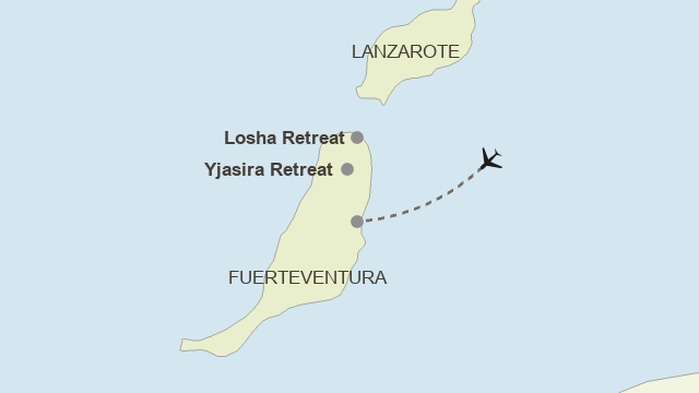 Karte: Fuerteventura - Yoga & Pilates im Yjasira Retreat