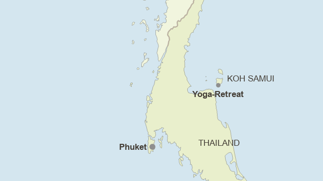 Karte: Südthailand - Yoga Core Cycle - Wochenretreat